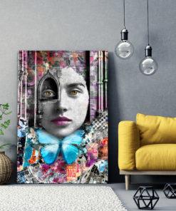 Tableau portrait de femme cathédrale Pop Art