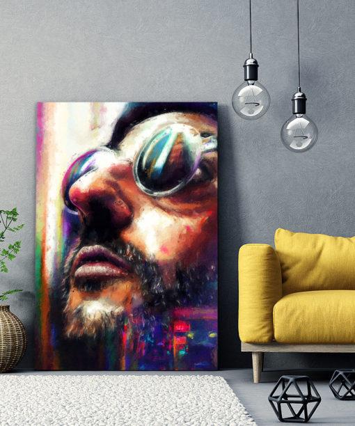 tableau portrait film leon luc besson jean reno
