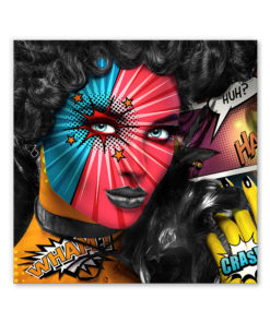 tableau pop art femme comics mode design