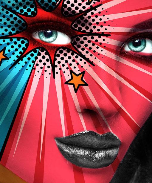 tableau pop art femme comics mode design