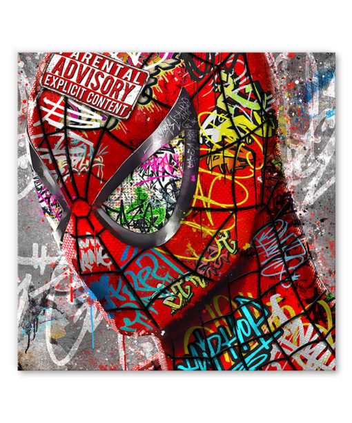 tableau spiderman pop street art graffiti comics marvel