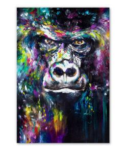 tableau portrait gorille peinture pop art