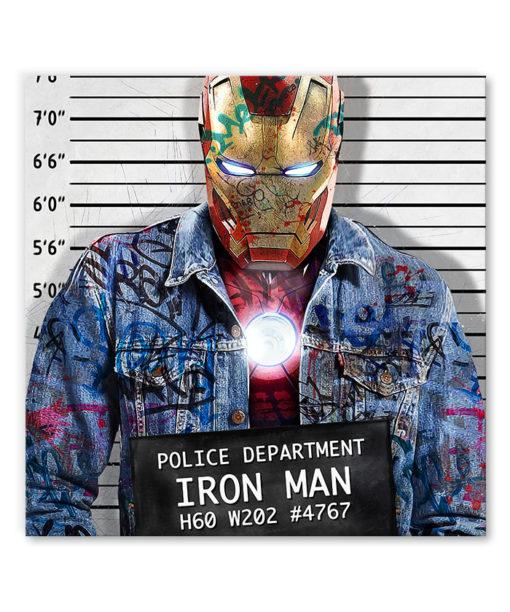 tableau pop art street iron man