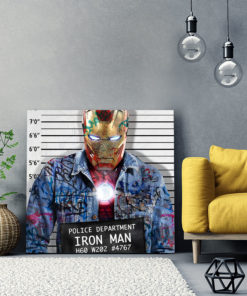 tableau pop art street iron man