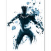 Tableau Black Panther Marvel encre watercolor pop art