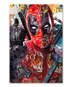 tableau deadpool street art comics marvel