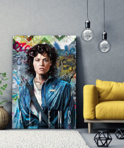 Tableau Aliens Ellen Ripley Sigourney Weaver pop art