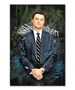 tableau pop art Leonardo DiCaprio Le loup de Wall Street