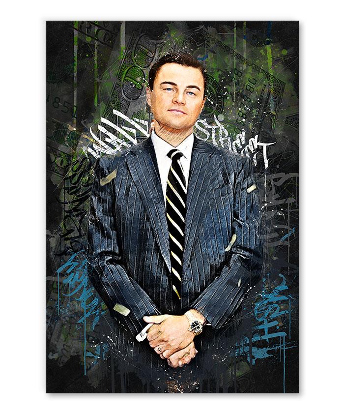 tableau pop art Leonardo DiCaprio Le loup de Wall Street