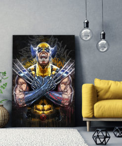 tableau wolverine x-men street art pop art comics