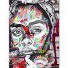 tableau portrait femme africaine street art
