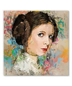 tableau decoratif princesse leia star wars