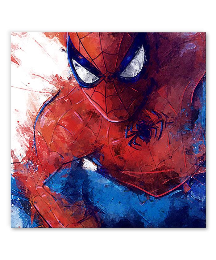 Tableau Spiderman jet de peinture Comics Marvel - Tableau Deco