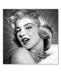 tableau marilyn monroe portrait noir et blanc