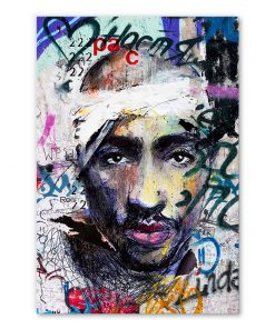 tableau tupac shakur 2pac hip hop street art