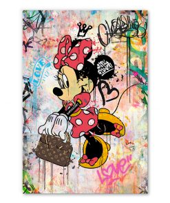 Tableau Minnie Mouse sac Louis Vuitton Street Art Disney Mickey