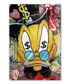 Tableau Picsou Dollars Street Art