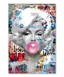 tableau deco street art Marilyn Monroe Bulle de Chewing-gum