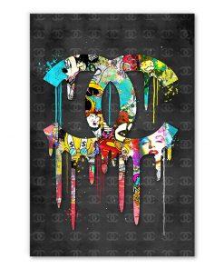Tableau Logo Chanel Street Art Pop Art