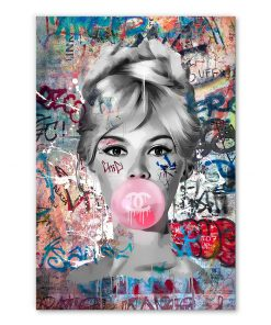 Tableau deco Brigitte Bardot Chewing-gum Street Art