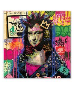 Tableau deco Mona Lisa La Loconde Comics Pop Art